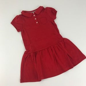 Gymboree Play Proof Uniforms Red Polo Dress Size 4